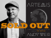 Andy Weir author photo and Artemis cover image