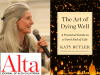 Katy Butler author photo and The Art of Dying Well cover image