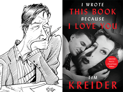 TIM KREIDER drawing and book cover
